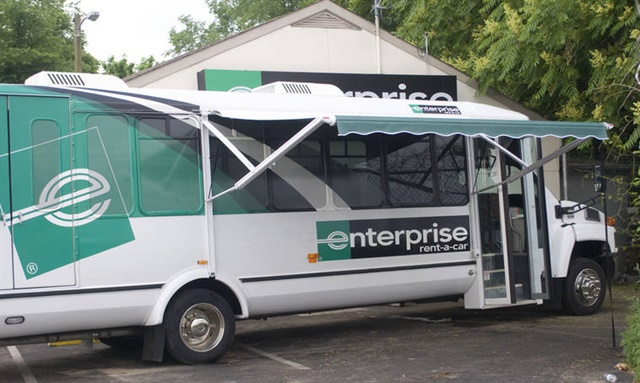 Enterprise's Mobile Emergency Response Vehicle (MERV) is on its way to the flooded areas and will be stationed in Dickinson, Texas, by Wednesday. Photo courtesy of Enterprise Holdings.