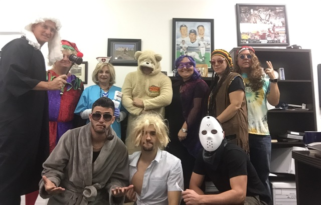 The Mile Fleet team in their Halloween costumes.