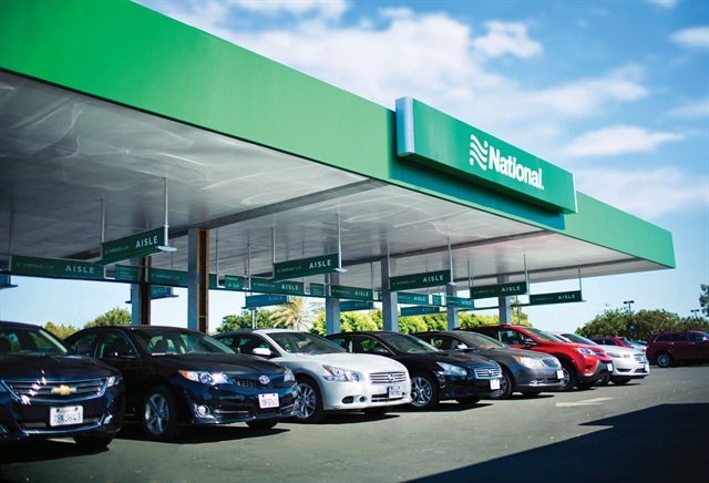 National Car Rental's Emerald Aisle. Photo courtesy of National Car Rental.