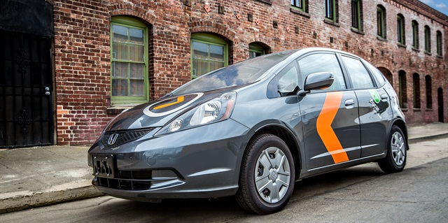 Zipcar's ONE > WAY Honda Fit vehicle. Photo courtesy of Zipcar.