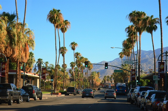 Downtown Palm Springs. Photo via Wikimedia.