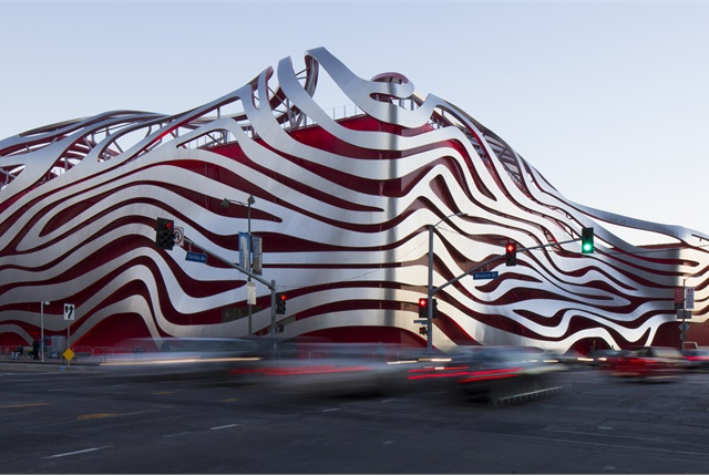 The Petersen Automotive Museum underwent an extensive renovation completed in 2015. Photo via Wikimedia and courtesy of David Zaitz.
