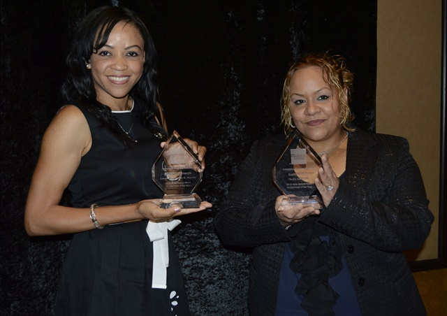 (l to r) Jacqueline Joseph of Leisure Car Rental received the 2013 Professional of the Year Award for the independent category and Kathy Nieves from the Thrifty Car Rental franchise in Syracuse, N.Y., was selected as the winner of the 2013 Professional of the Year Award in the franchise category. Photo by Amy Winter-Hercher.