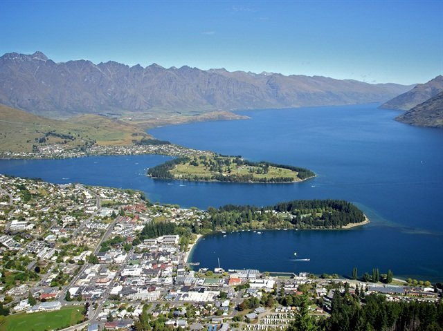 Queenstown, New Zealand. Photo via Wikipedia