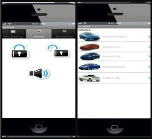 The new app provides members with a new way of booking and unlocking and locking the vehicle from their mobile phone.