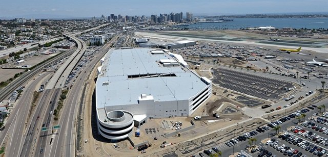 San Diego International Airport's new rental car center. Photo via San Diego International Airport/Flickr