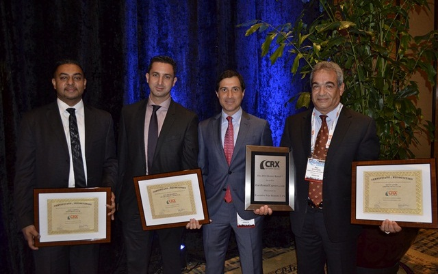 The winners of last year's Renter Rated Award and honorable mentions (from left to right): Mike Sahota of Zoom Rent-A-Car; Sam Zaman and Dan Darvish of Black & White Car Rental; Ali Mohageri of Executive Van Rentals and Airport Rent-A-Car. Photo by Amy Winter-Hercher.