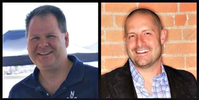 Gregory Johnson (left) has been named FlightCar's new chief operating officer. Cory Jones (right) has been appointed FlightCar's new vice president of marketing. Photo credit: FlightCar