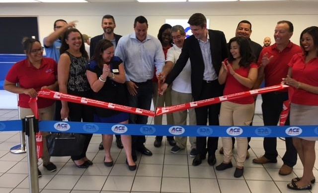 The ribbon cutting ceremony at the new location near Orlando Airport. Photo courtesy of ACE Rent A Car.