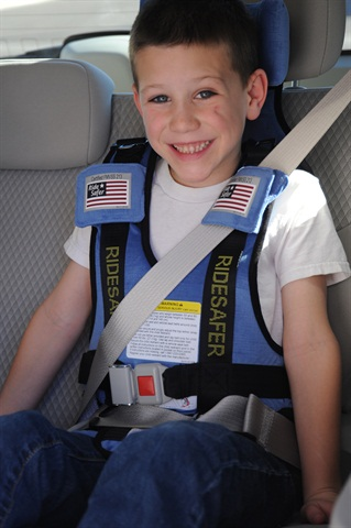 The RideSafer Travel Vest is a foldable and safe alternative to a booster seat.