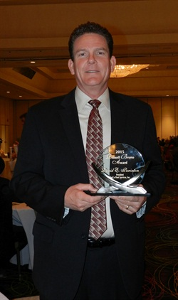 David Purinton won this year's Russell Bruno Award. Photo by Amy Winter.