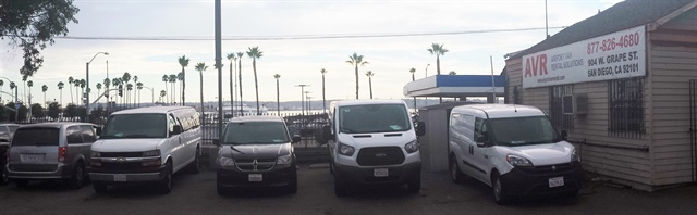 Airport Van Rental's corporate-owned location in San Diego. Photo courtesy of Airport Van Rental (AVR).