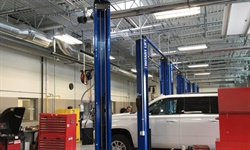 Salt Lake City International Airport's new service buildings includes an area for light vehicle maintenance such as body repairs and tire changes. Photo courtesy of Conrac Solutions.