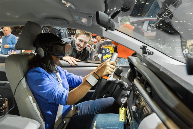Toyota will provide show attendees with a virtual reality experience of the new technology's safety features. Photo courtesy of Toyota.