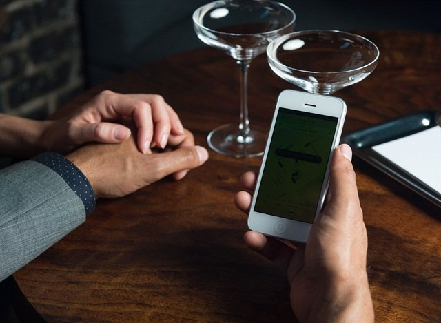 Uber's ride-sharing mobile app. Photo courtesy of Uber.