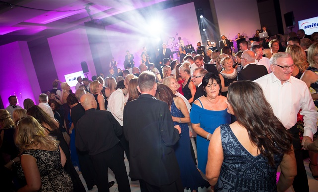 United Rental Group celebrated its 25th anniversary in the U.K. with a gala dinner in London. Photo courtesy of United Rental Group.