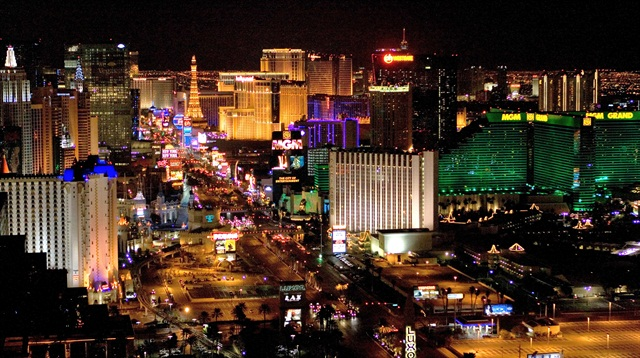 Las Vegas has had the biggest drop in rental rates, declining by 18% since 2013, according to Travel Leaders Corporate's analysis.Photo via Wikimedia/Lasvegaslover