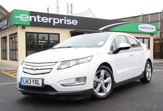 Enterprise is now renting Chevy Volts to U.K. customers. Photo credit: Enterprise Rent-A-Car