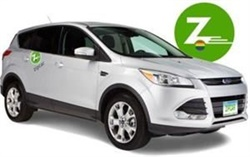 Zipcar donates $1 for every reservation on its branded Pride cars. Photo courtesy of Zipcar.