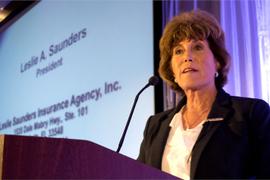 Leslie Saunders Receives National Women of Distinction Award