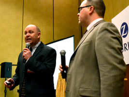 Nick DiPrima (right) and John Hansen of TSD give a presentation on how to make the most of your...