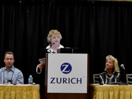 Sharon Faulkner presents the panel on mobile technology and how it's affecting the car rental...