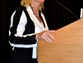 Angela Margolit introduces the International Operators Seminar.