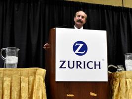 Mark Eckhaus (center) begins the Eckhaus Fleet presentation on remarketing. At left is Tim Yopp...