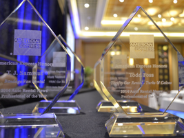 The 2014 Professional of the Year trophies.