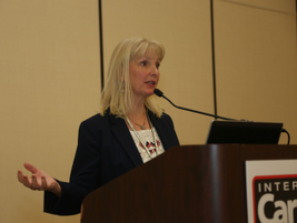 Angela Margolit, founder and president of Bluebird Auto Rental Systems, served as the moderator...