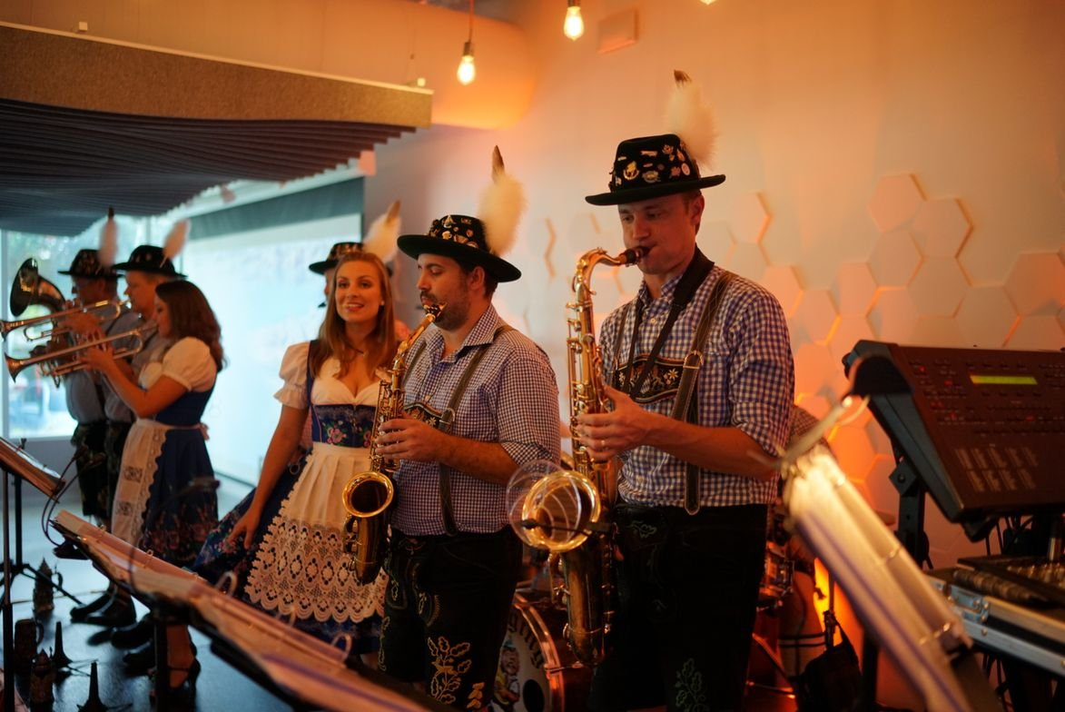 The ribbon-cutting ceremony was followed by a Bavarian-style celebration.