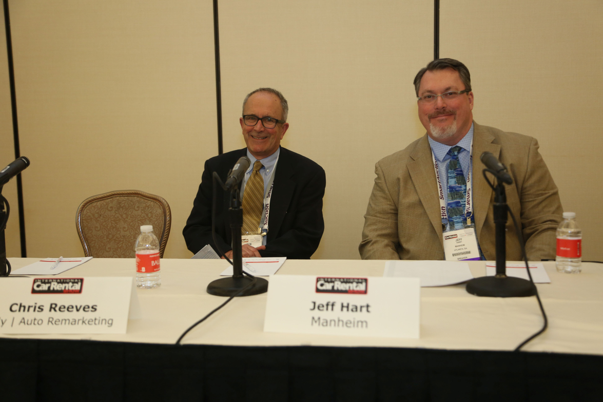 RobertCamp (left) of Alliance Inspection Management and Jeff Hart of Manheim took part in the...