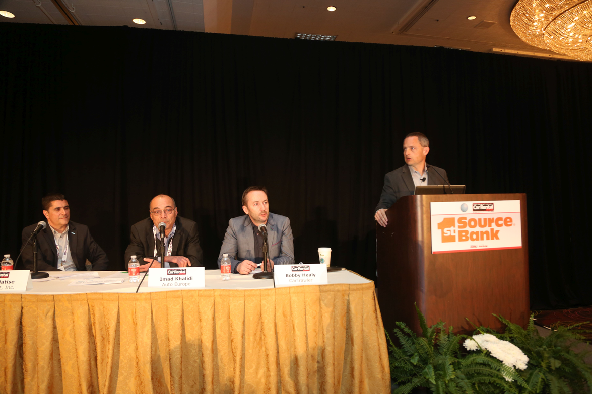 Chris Brown, executive editor of Auto Rental News, moderated the opening keynote panel session.
