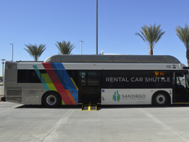The rental car center will have 16 buses transporting customers between the facility and the...