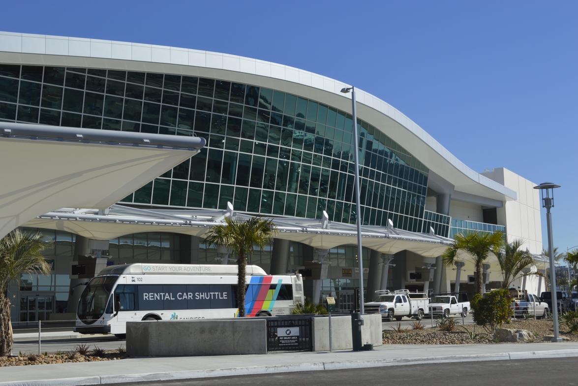 The $316-million rental car facility features four levels. The center is about 1,400 feet long —...