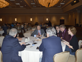 Wednesday's roundtable discussions featured 10 discussion topics. Attendees rotated tables every...