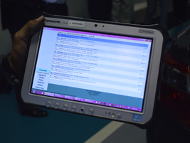 A Panasonic Toughpad is a condition report writer's primary tool of the trade.