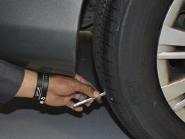 "Tires must have a minimum tread depth of 5/32"" across all treads."