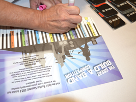 This year featured a Build Your Band Competition for attendees to get stamps from exhibitors....