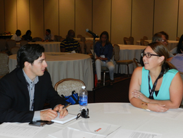 """Newcomers had the opportunity to network and learn more about the show at Sunday's """"First..."""