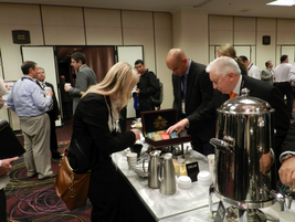 In between sessions, attendees had the opportunity to network during coffee breaks.