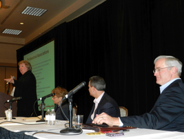 ACRA's board of directors session also included Gordon Reel, ACRA secretary (center), and Greg...