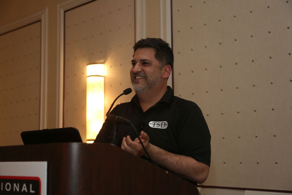 Eddie Crespo of TSD provided tips to reach customers in new and creative ways during this Latin...
