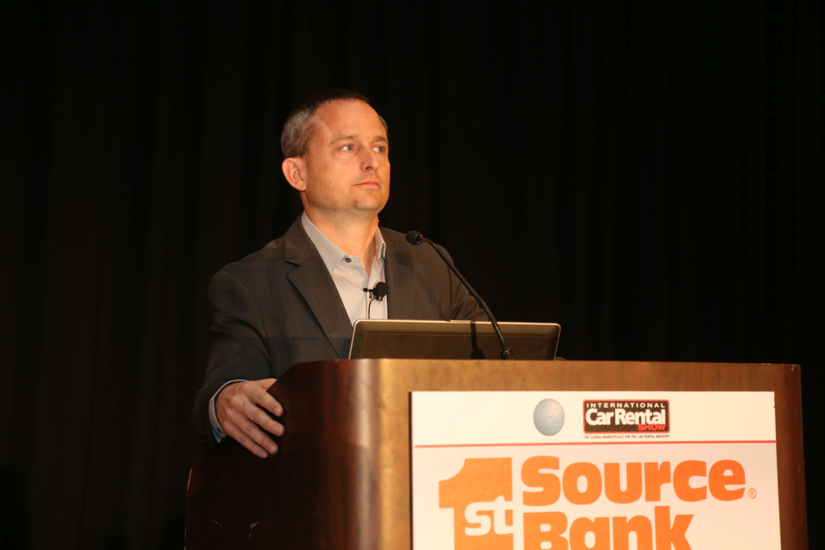 Chris Brown, executive editor of Auto Rental News, introduced several of the sessions.