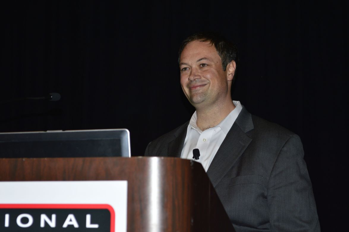 Jason Manelli, vice president of International Franchise Systems, served as the moderator for...