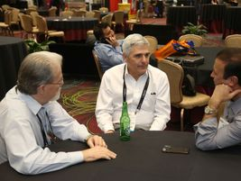 During Monday's evening reception, attendees were able to network with other operators as well...