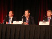 The opening keynote panelists included North Holbrook of Volvo Cars of North America; Mark...