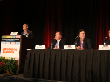 Chris Brown, executive editor of Auto Rental News, moderated the opening keynote panel on car...