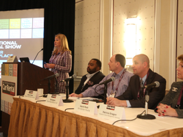 During Tuesday's Auto Dealer Day, Lori Tennant of MDL autoMation led a panel of franchised auto...