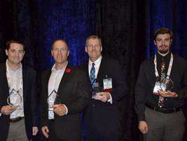This year's Professional of the Year Award winners (left to right): Matt Vercollone, Todd Foss,...